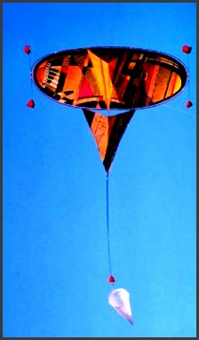 a very original kite design from india featuring simple lines but more plex art on