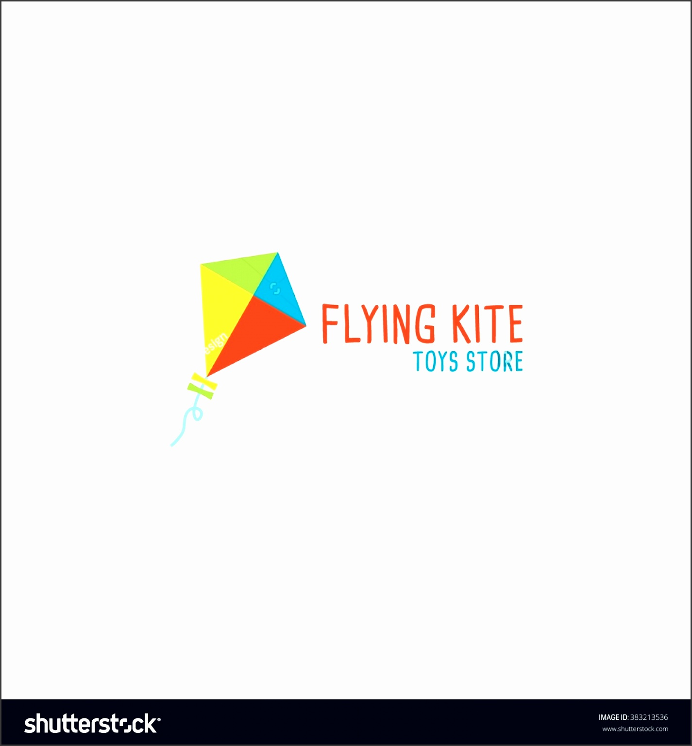 lovely kite toy shop logo design template vector illustration