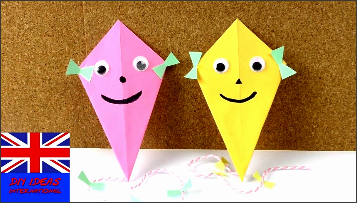 make a super cool kite as decoration nice idea for the fall really easy idea for kids youtube