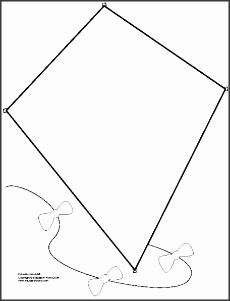 printable kite template for kids