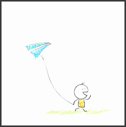small people flying kite material free to pull villain fly a kite material