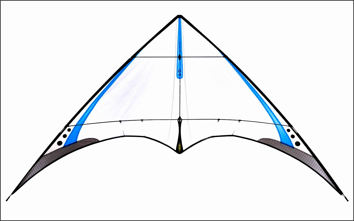 prism kites 4d stunt sport kite shown assembled cobalt color