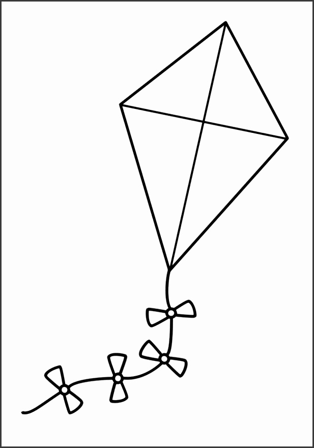 a large kite coloring pages