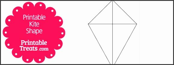 printable kite shape template