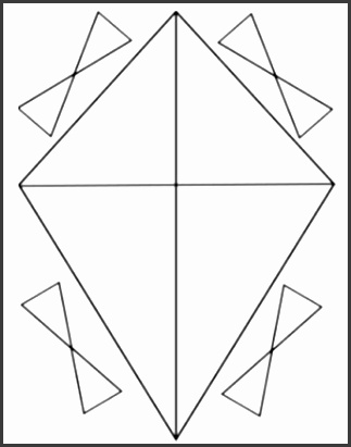 14 photos of kite template to printer