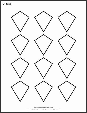 kite templates 2 inch
