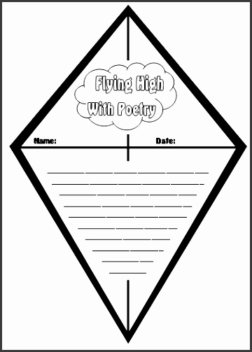 kite poetry template for creative writing