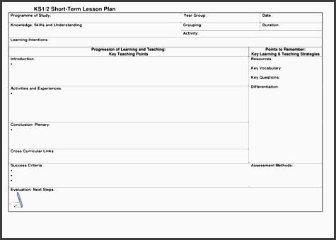ks1 2 lesson plan template