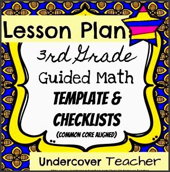 3rd third grade guided math lesson plan template checklists bundle editable