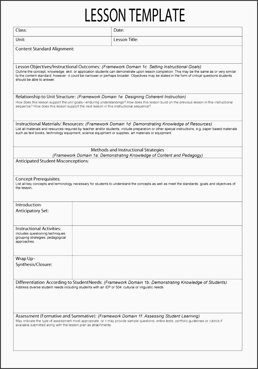 printable lesson plan template 06