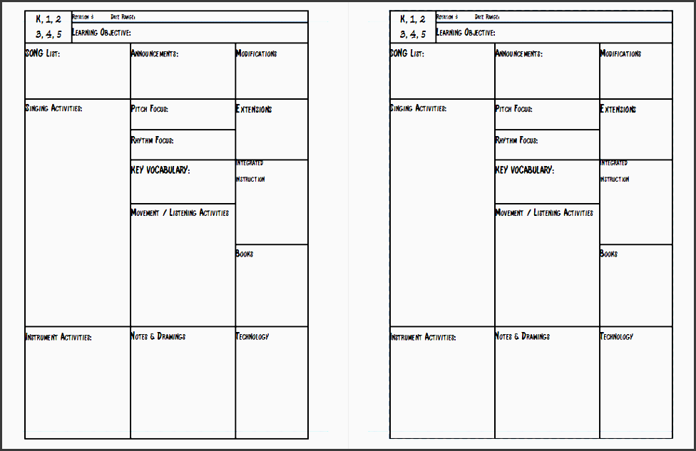 free lesson planner template 2016 free business template