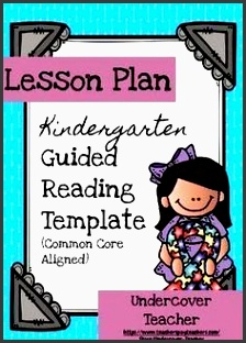i love this easy to use kindergarten guided reading lesson plan template with the mon core