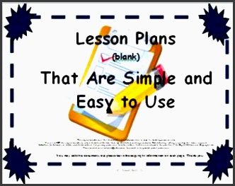 lesson plan templates 3 that are simple and easy to use