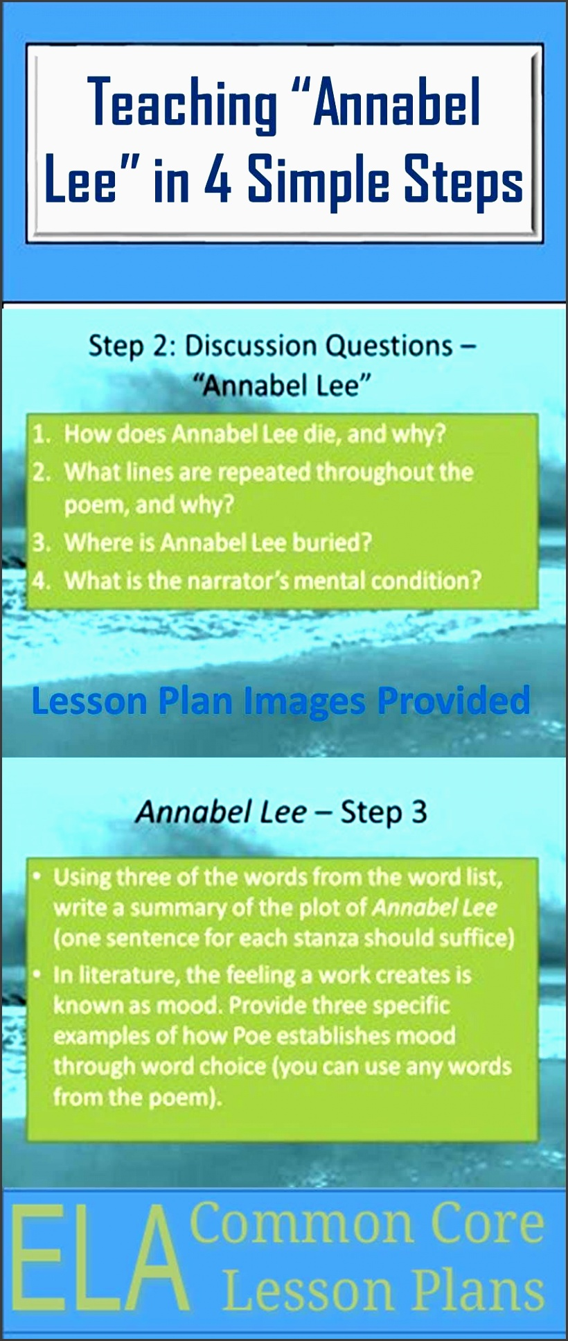 used this simple lesson plan for annabel lee by edgar allan poe last week