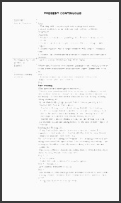 english worksheets lesson plan present continuous