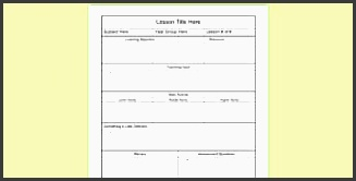 editable individual lesson plan template