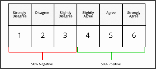 6 point likert scale