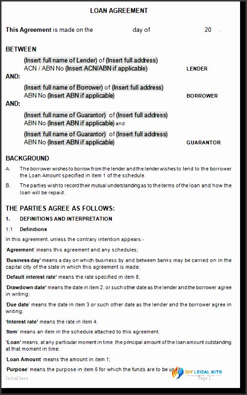 11 loan agreement templates - sampletemplatess