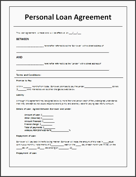 28 loan contract template contract template for loan format of regarding loan contract template