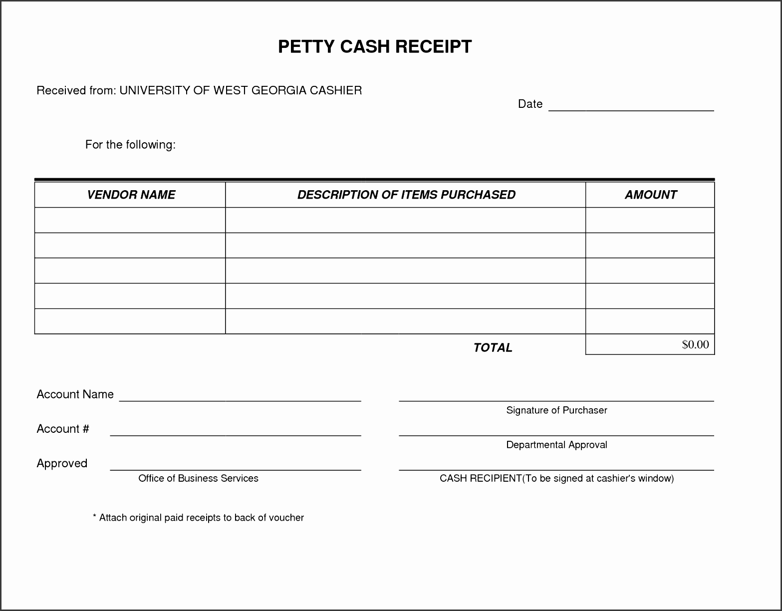 petty cash receipt form template very simple and easy to print i use this form