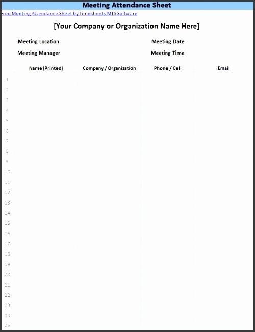 attendance sheet template image 1