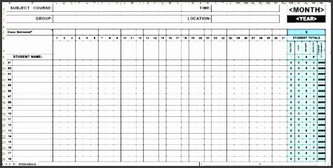 attendance calendar excel template free new calendar template site