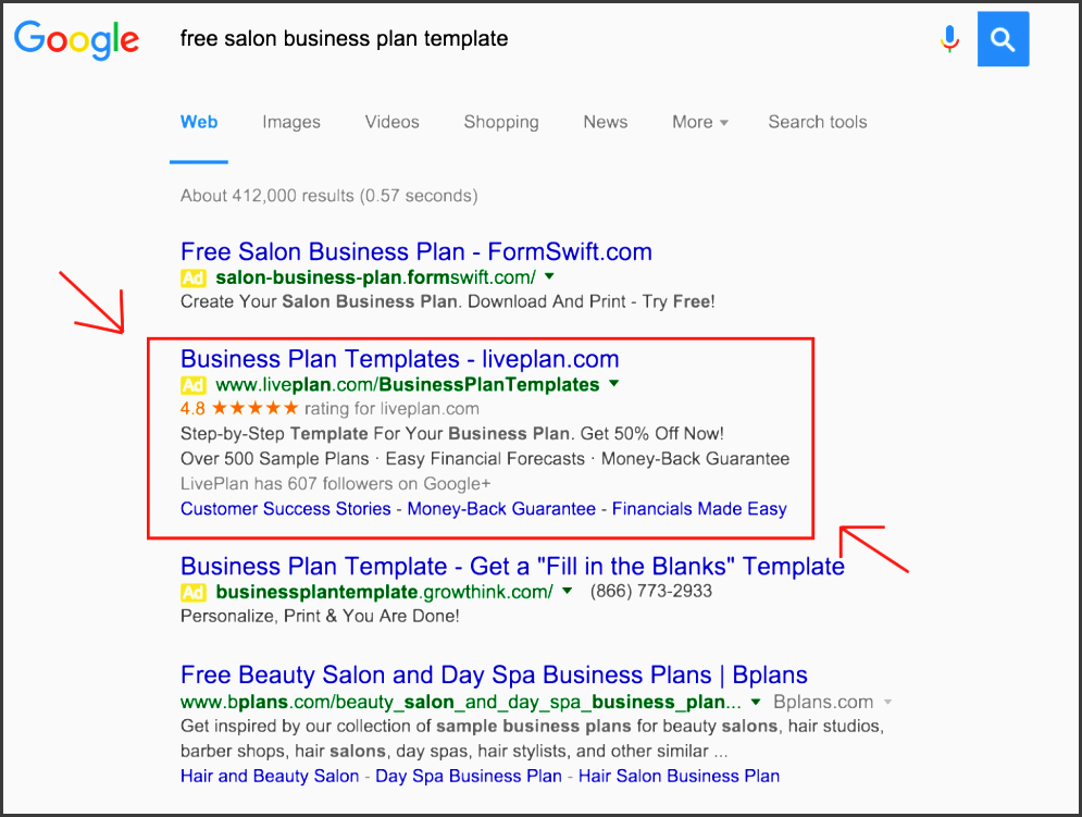 so you want to start a business liveplan review the daily details spa plan template screen