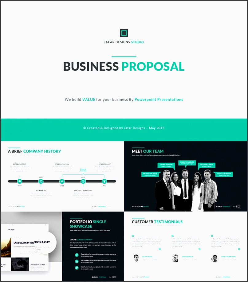 business plan proposal ppt template