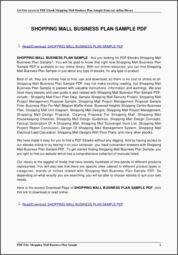 shopping mall business plan sample conversion gate01 thumbnail 4 cb