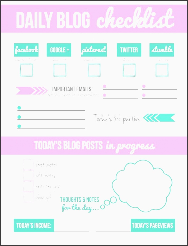 want to up your blogging success want to start a blog this year here daily checklistblog planner printablefree