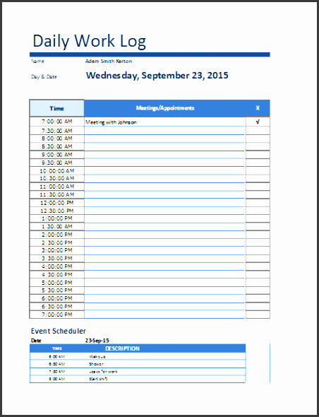 5 make free daily activity log online