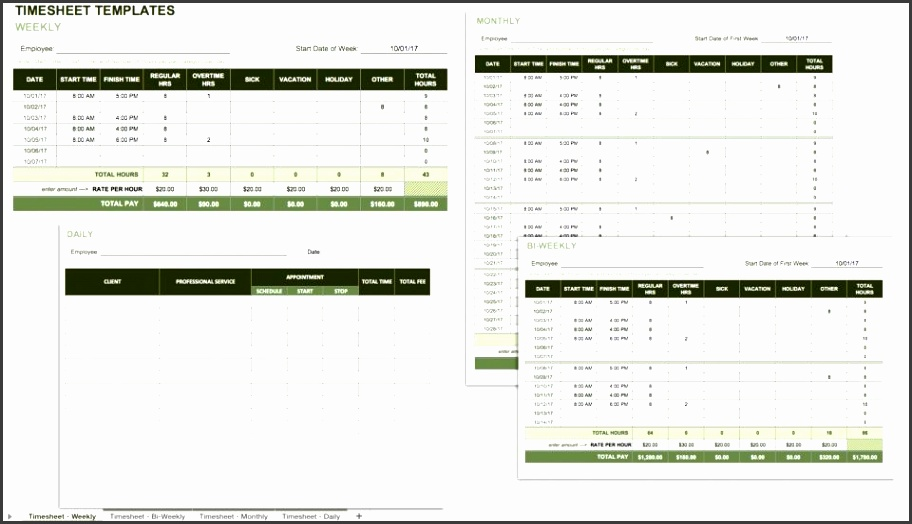 in addition to tracking employee attendance a timesheet calculates hours worked and amounts owed employees can use this template for tracking their own