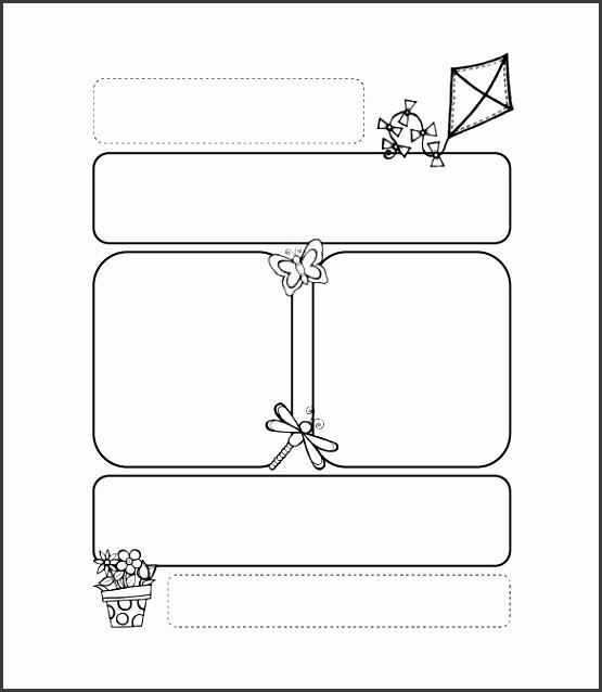printable kite preschool newsletter template