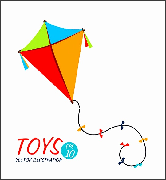 kite design vector art illustration
