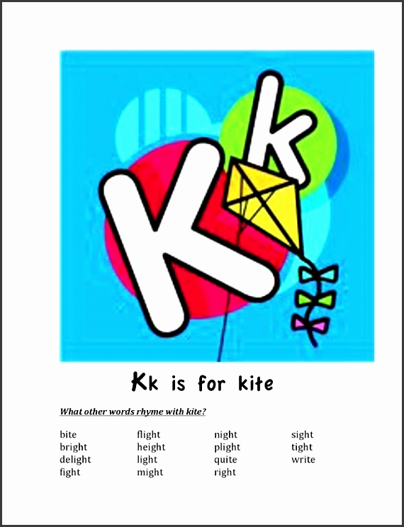 kite activities free kk is for kite poster includes an alphabetical list of k