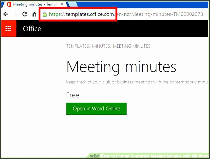 image titled format corporate meeting minutes with ms word step 1