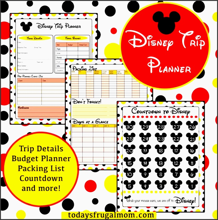 printable disney trip planner