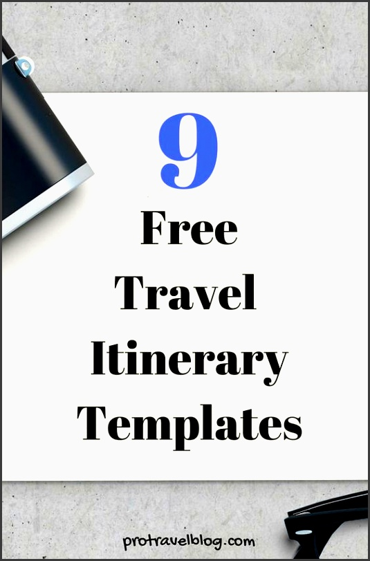 a free travel itinerary template to manage travels here itinerary planner free travel and planners
