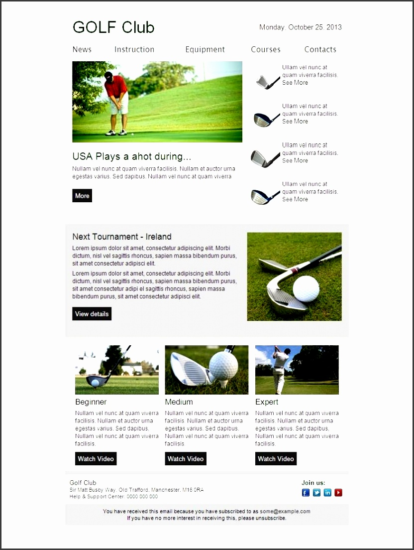 email newsletter template patibility test email newsletter with regard to outlook newsletter template 2330