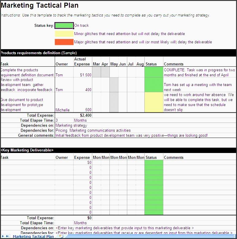 business tactical plan template marketing business plan example marketing plans templates marketing tactical plan template