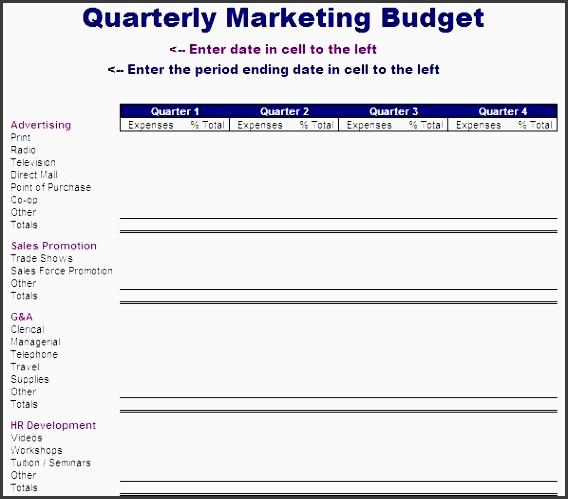 quarterly marketing bud template