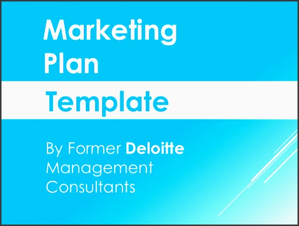 marketing plan template by former deloitte management consultants