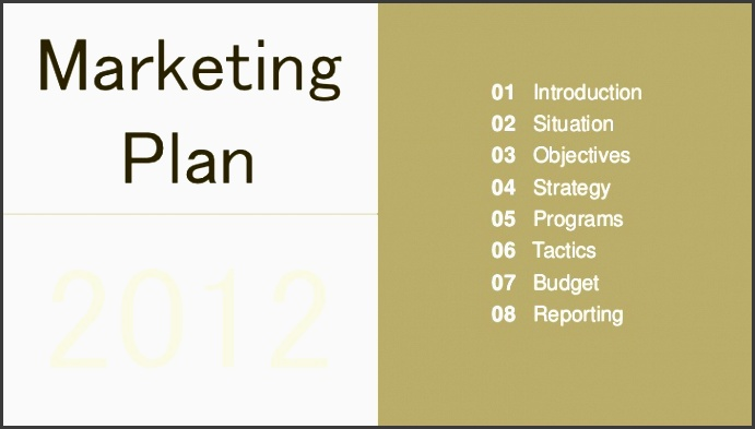 marketing plan presentation template marketing 01 introduction 02 situation plan