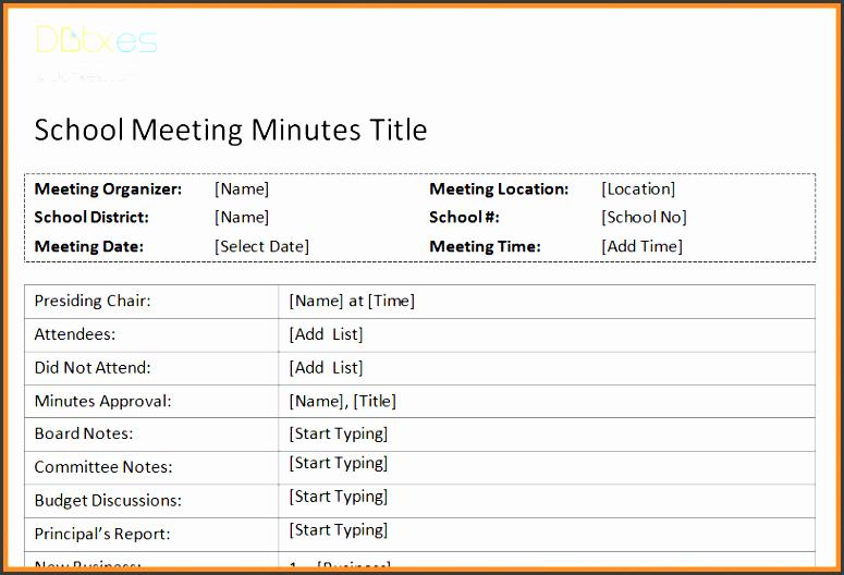 meeting minutes format free printable school meeting minutes