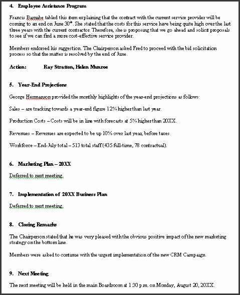 meeting minutes sample format pg 2