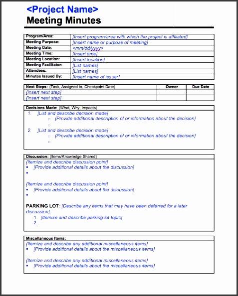 printable meeting minutes template 06