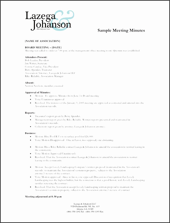 sample meeting minutes name of association board meeting date meeting was