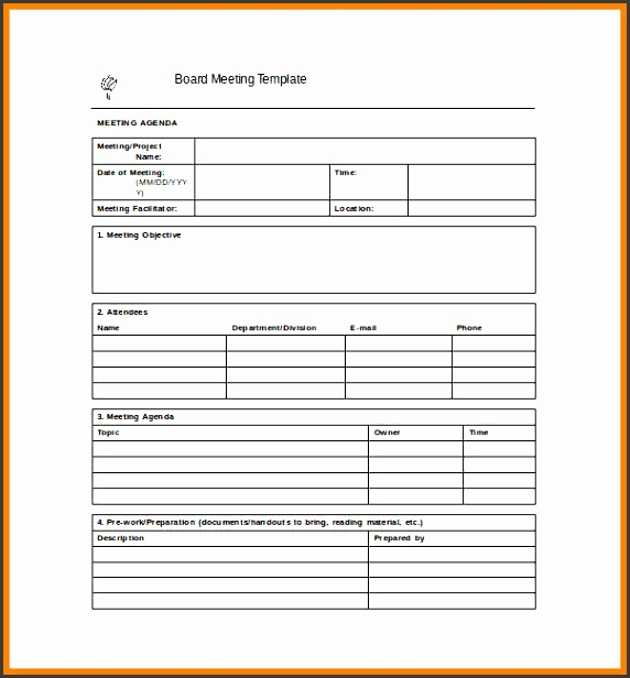 meeting notes template project meeting minutes word template