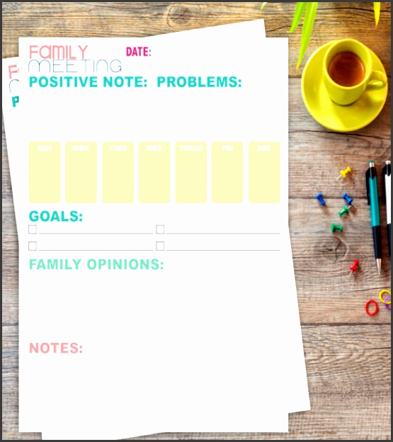 family meeting note template format
