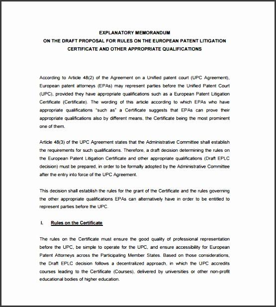 explanatory memorandum template pdf